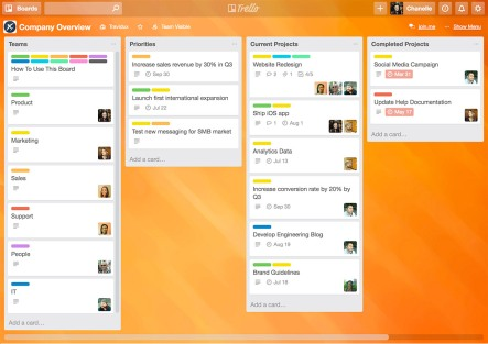 Trello board example 1